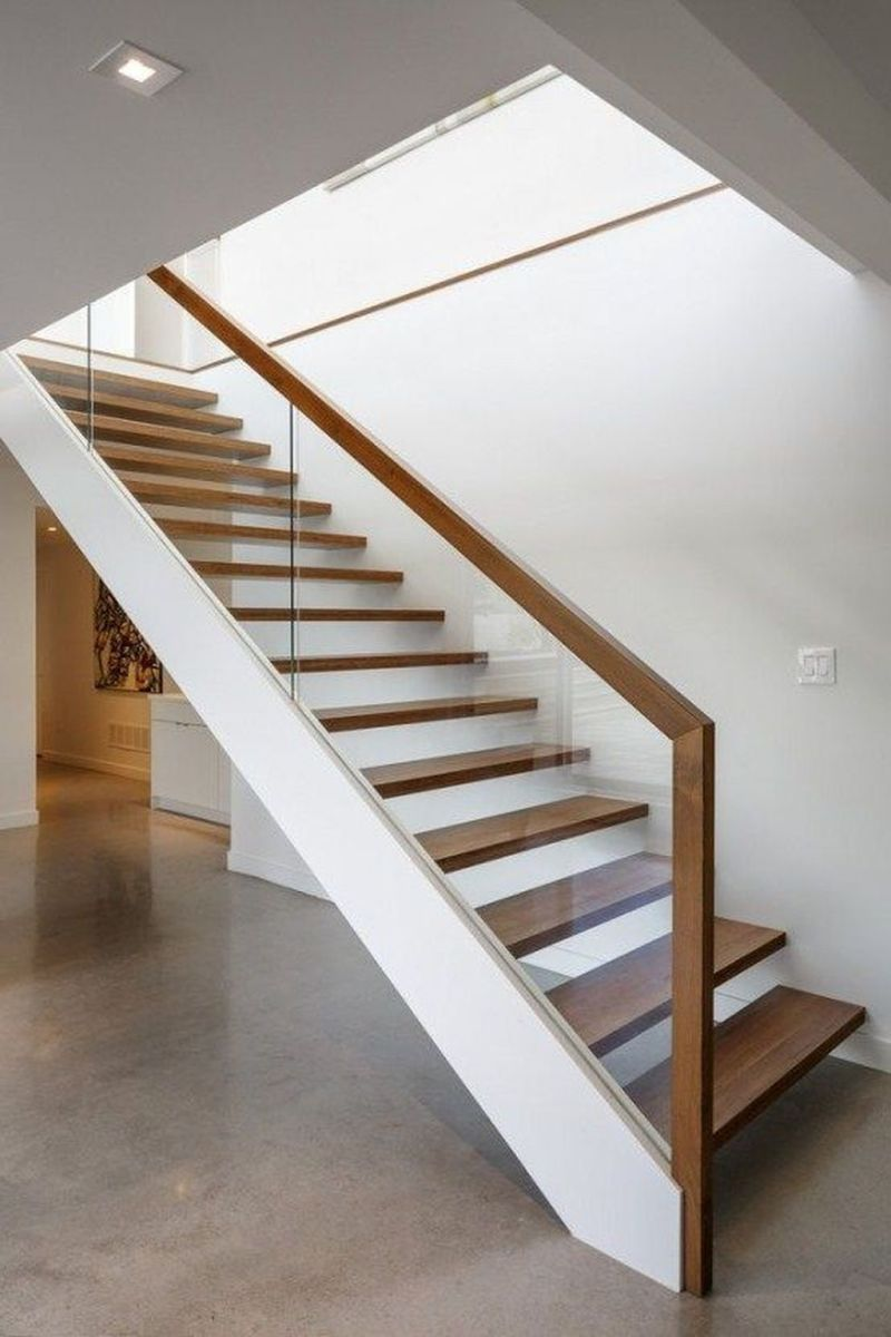 Brilliant Staircase Design Ideas To Beautify Your Interior 27