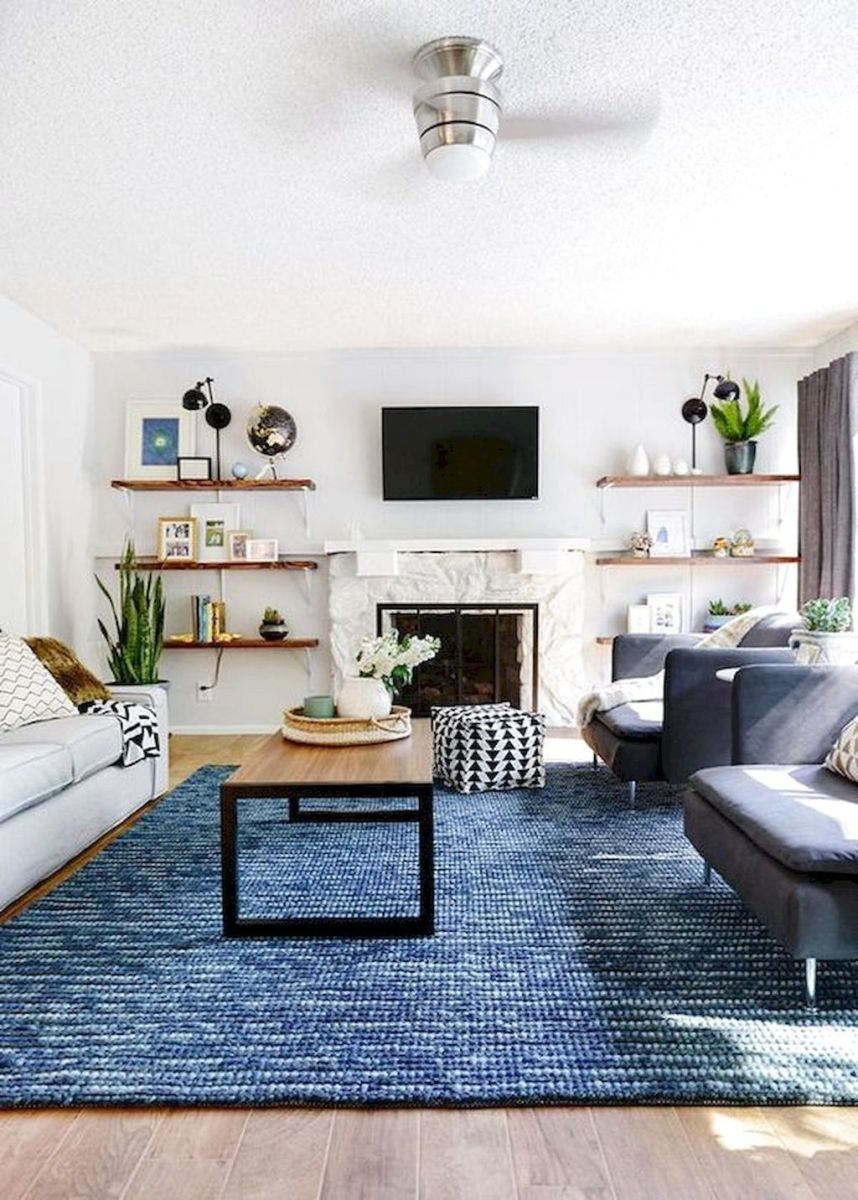 Fascinating Living Room With Carpet Decorating Ideas 20