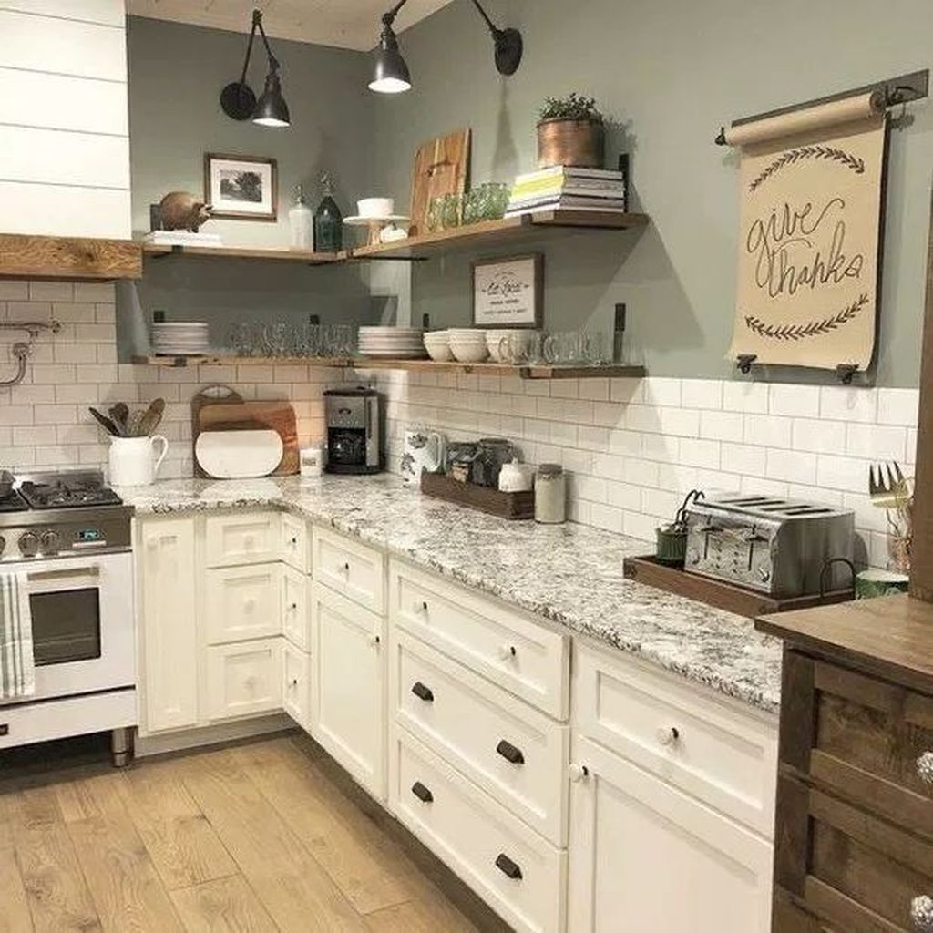 Nice Rustic Farmhouse Kitchen Cabinets Design Ideas 07