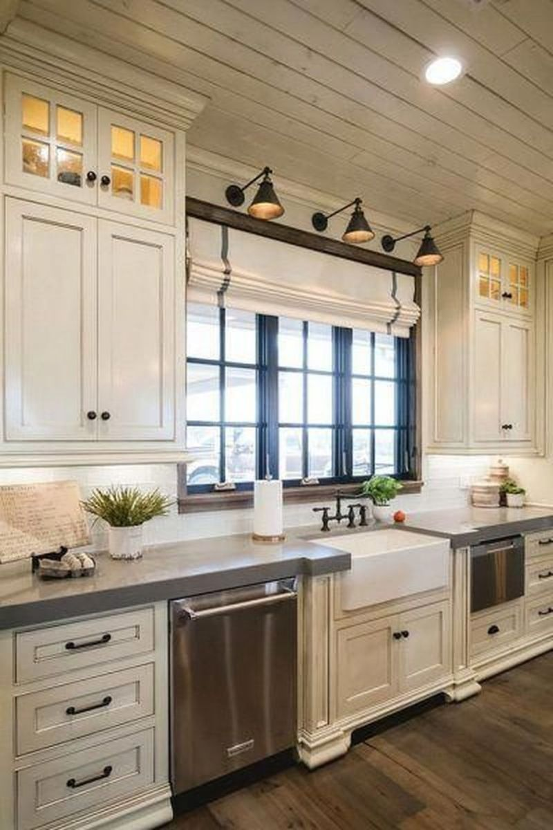 Nice Rustic Farmhouse Kitchen Cabinets Design Ideas 16