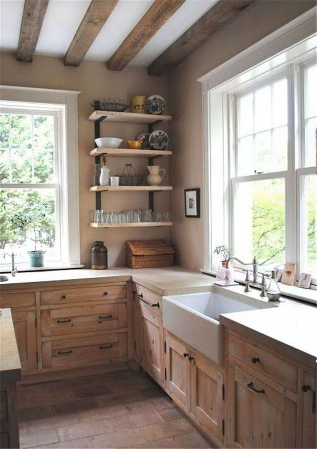 Nice Rustic Farmhouse Kitchen Cabinets Design Ideas 24