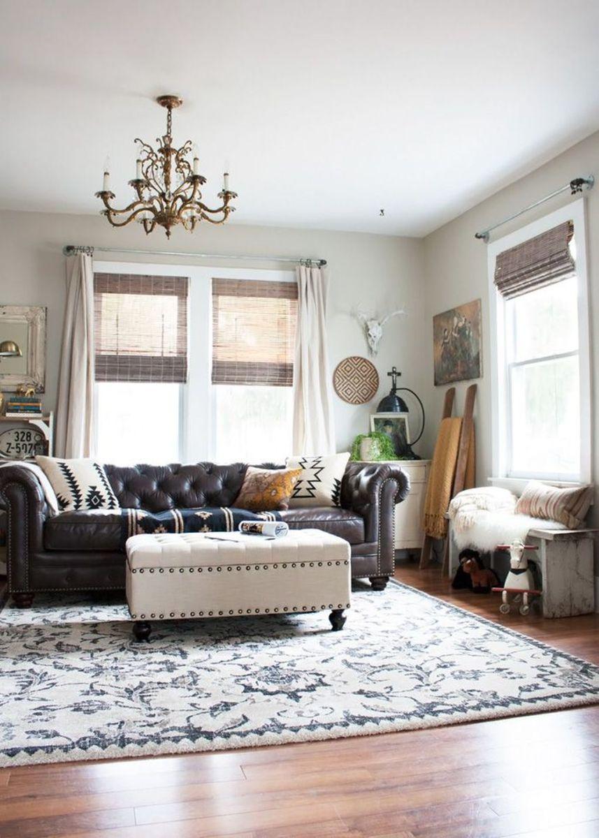 The Best Rustic Bohemian Living Room Decor Ideas 06