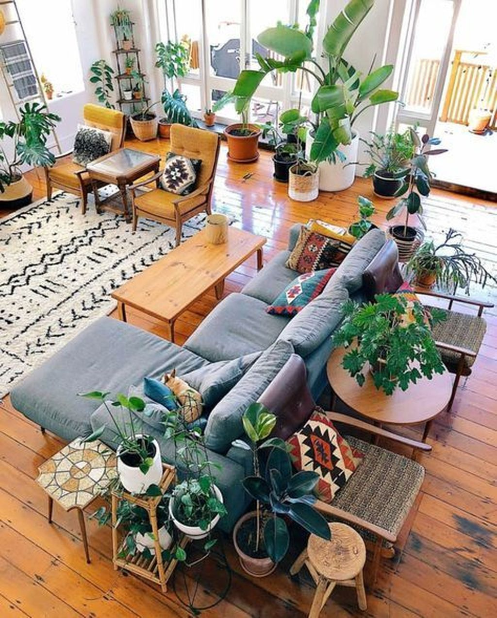 The Best Rustic Bohemian Living Room Decor Ideas 30