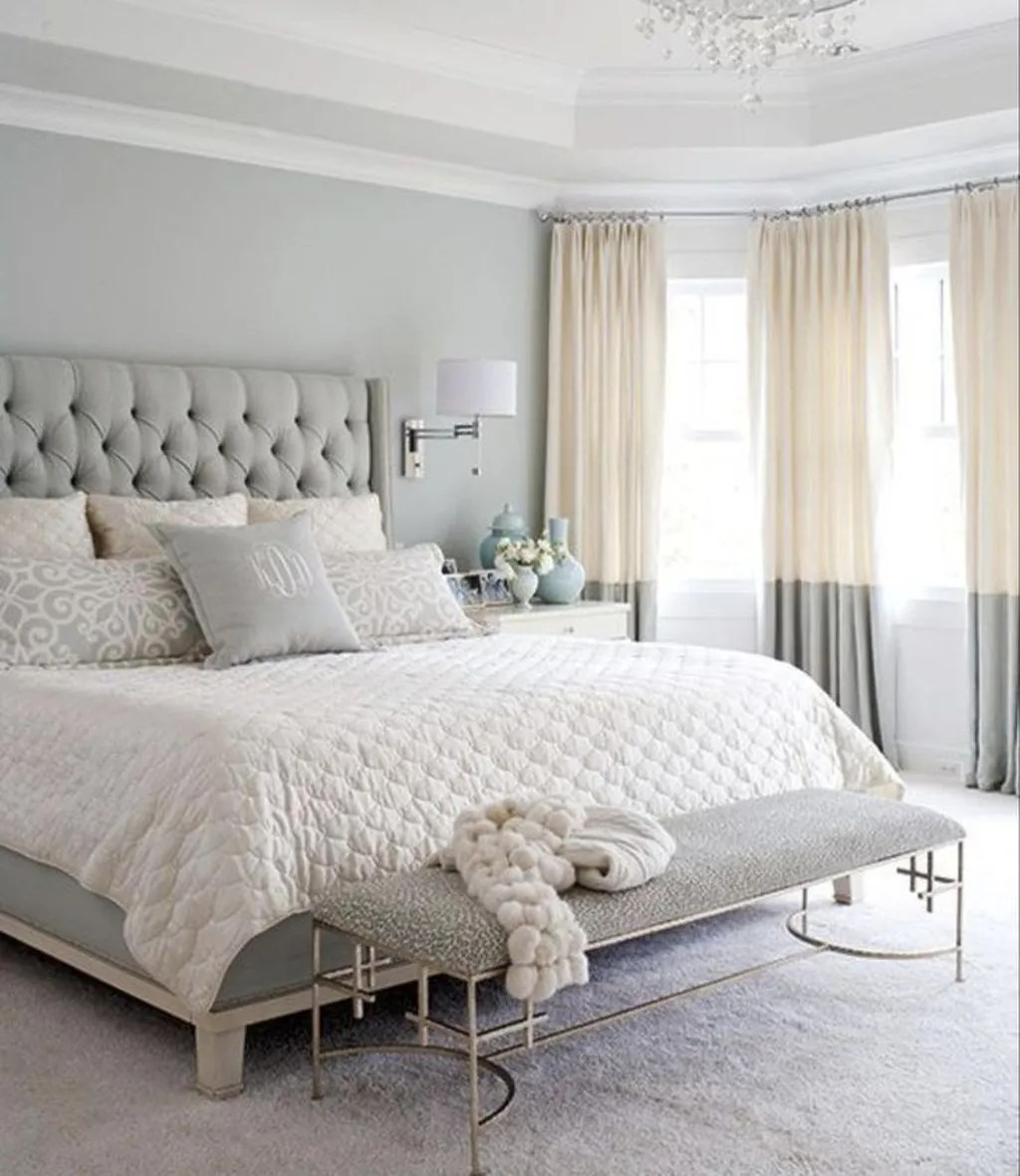 The Best White Master Bedroom Design And Decoration Ideas 02