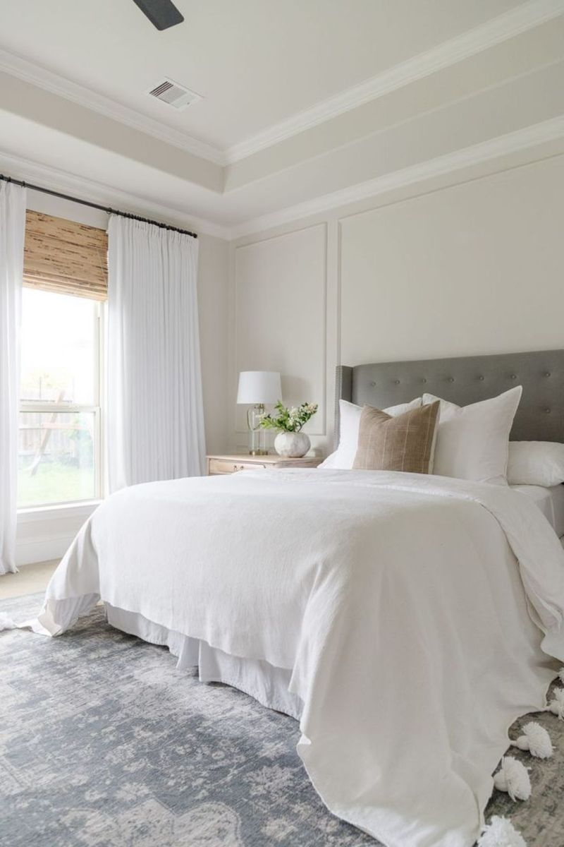 The Best White Master Bedroom Design And Decoration Ideas 05