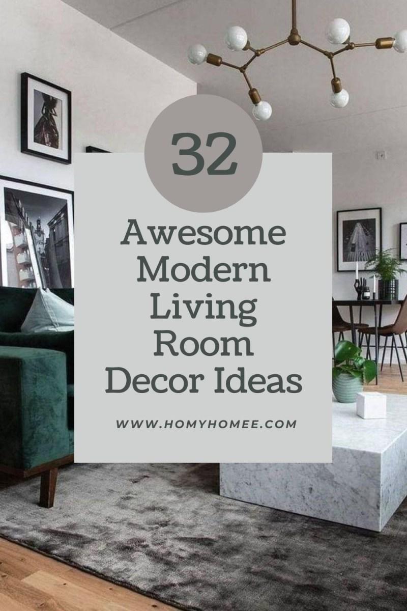 32 Awesome Modern Living Room Decor Ideas