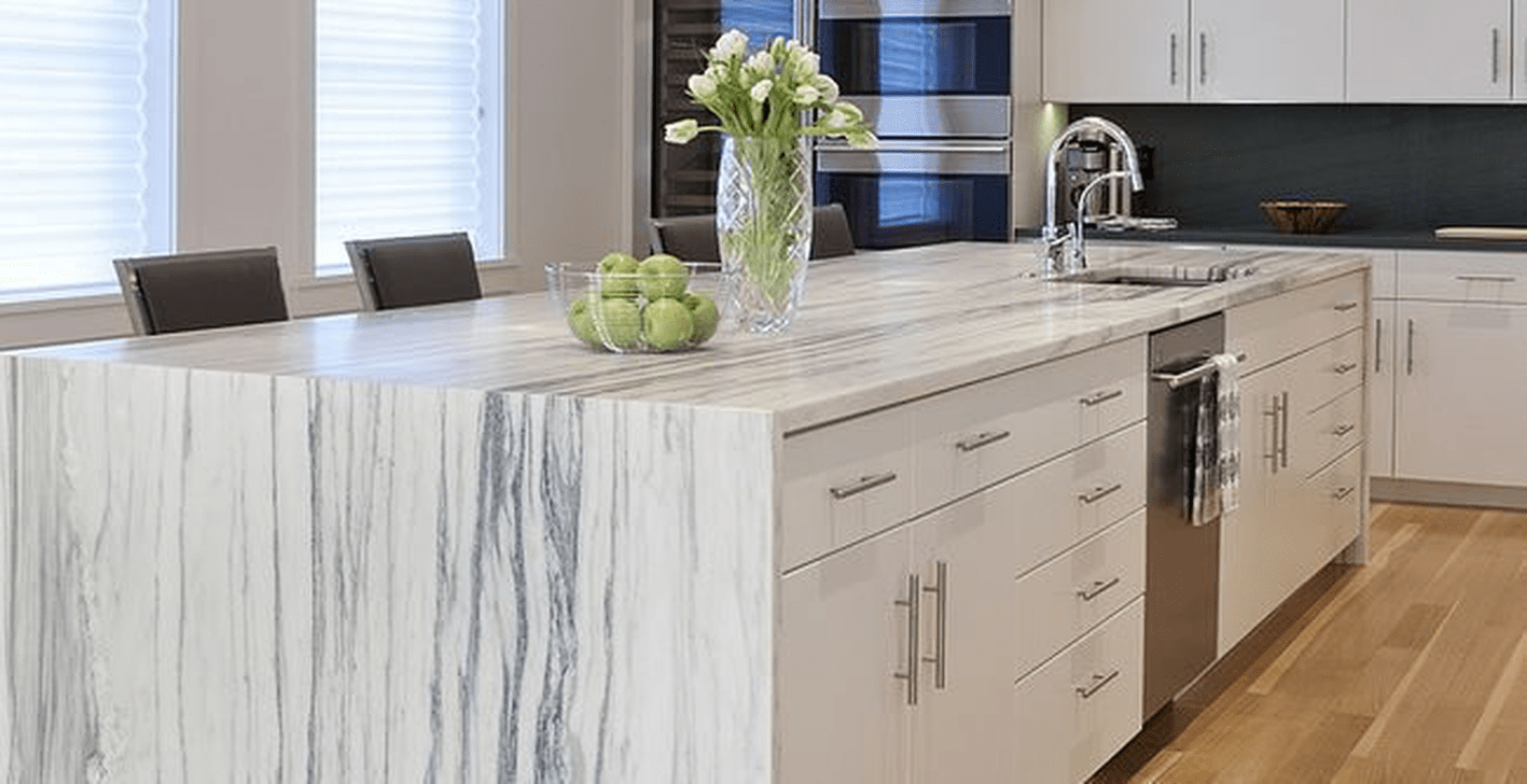 Beautiful Kitchen Design Ideas With Porcelain Slab Countertop 03