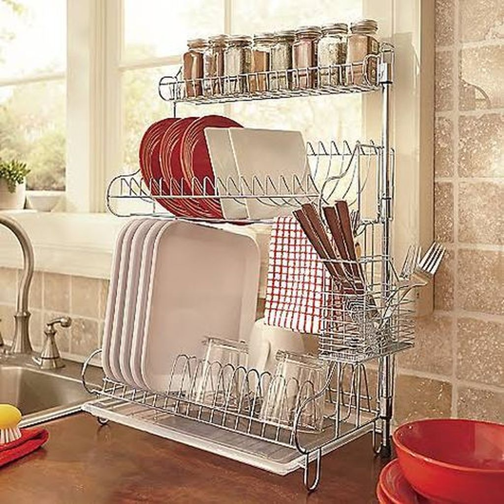 Inspiring Dish Rack Ideas For Your Kitchen 01