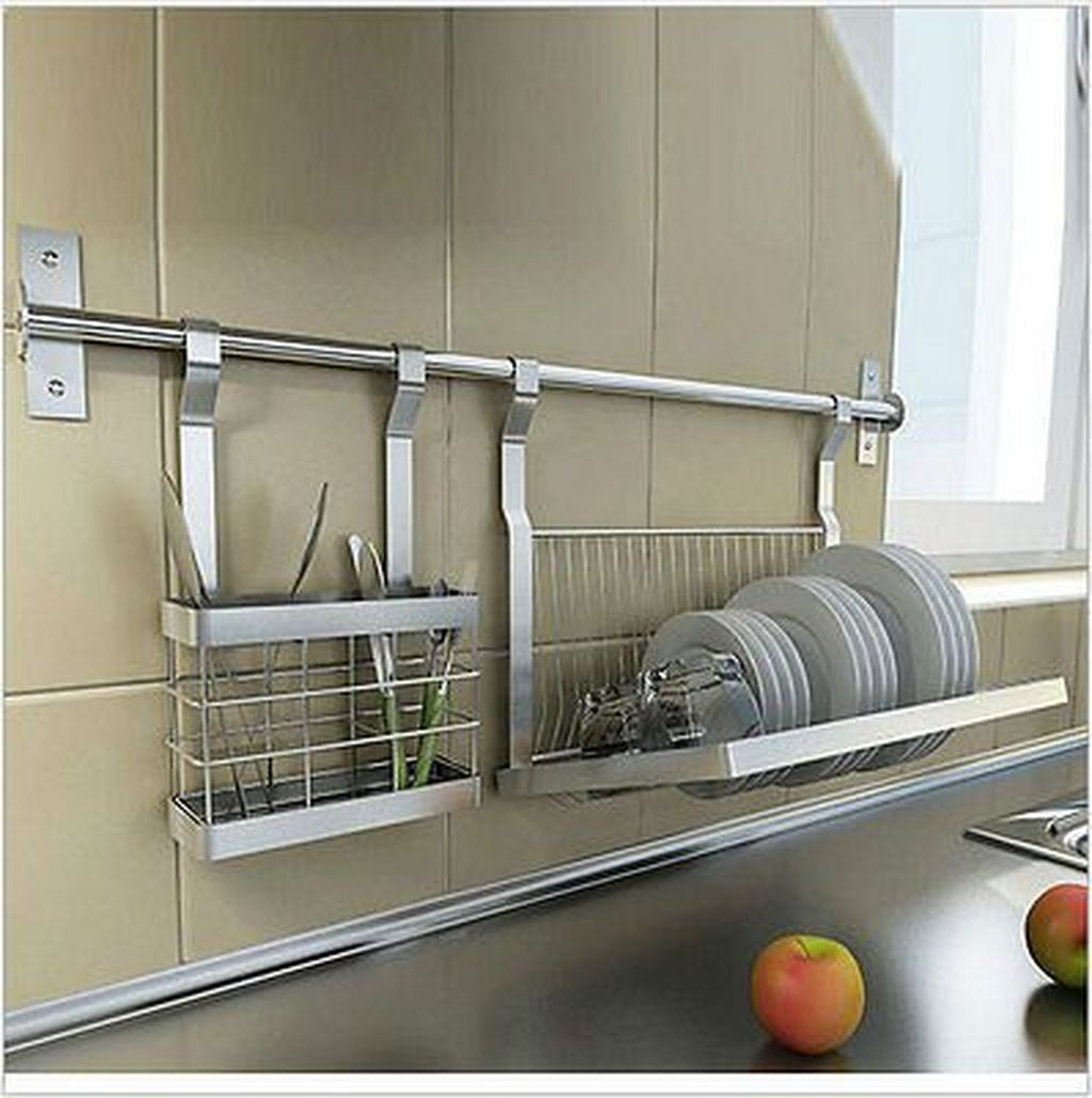Inspiring Dish Rack Ideas For Your Kitchen 07