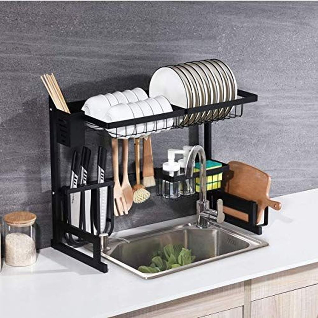 Inspiring Dish Rack Ideas For Your Kitchen 12