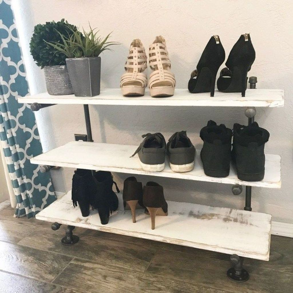 Nice Industrial Shoe Rack Design Ideas 07
