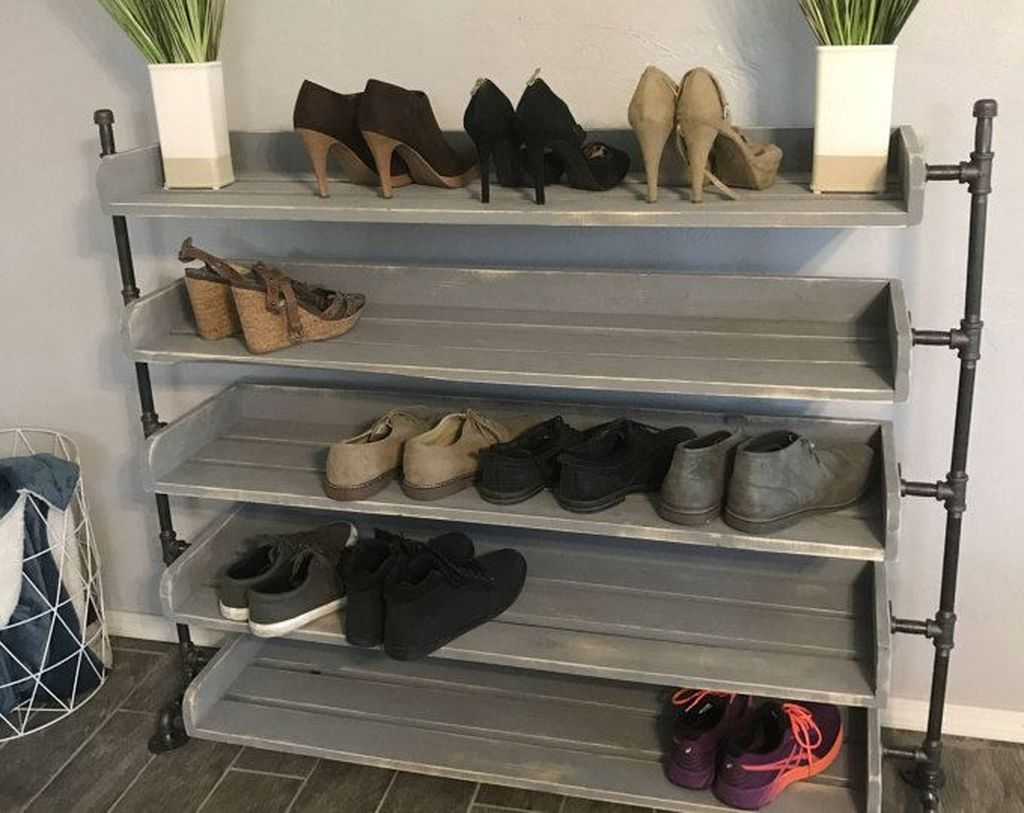 Nice Industrial Shoe Rack Design Ideas 22