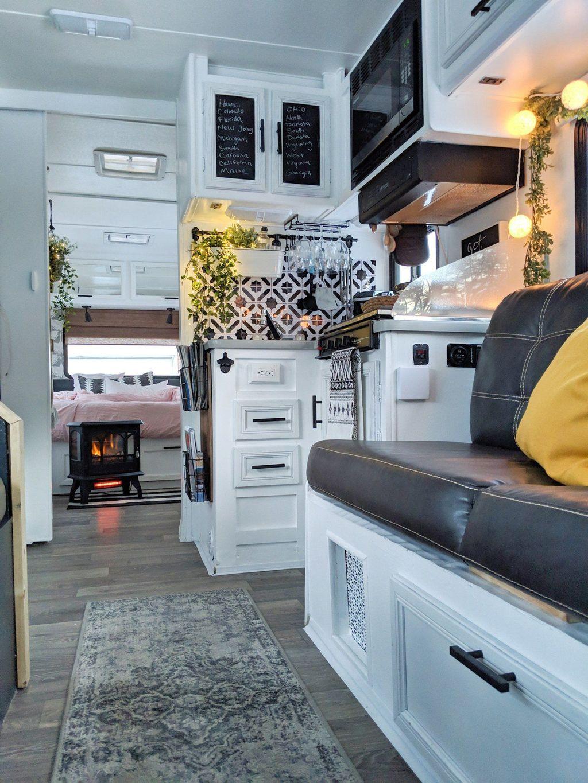 Nice RV Camper Remodel Ideas 26
