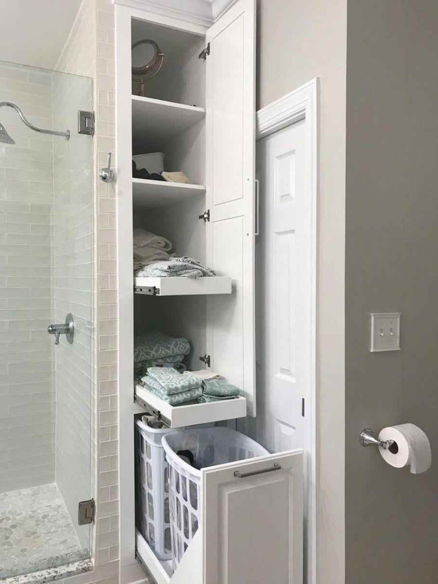 Stunning Bathroom Storage Design Ideas 22
