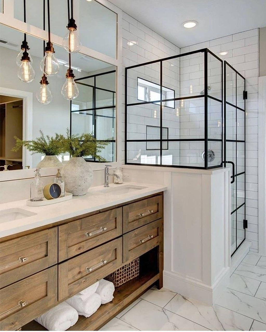 Stunning Bathroom Storage Design Ideas 23