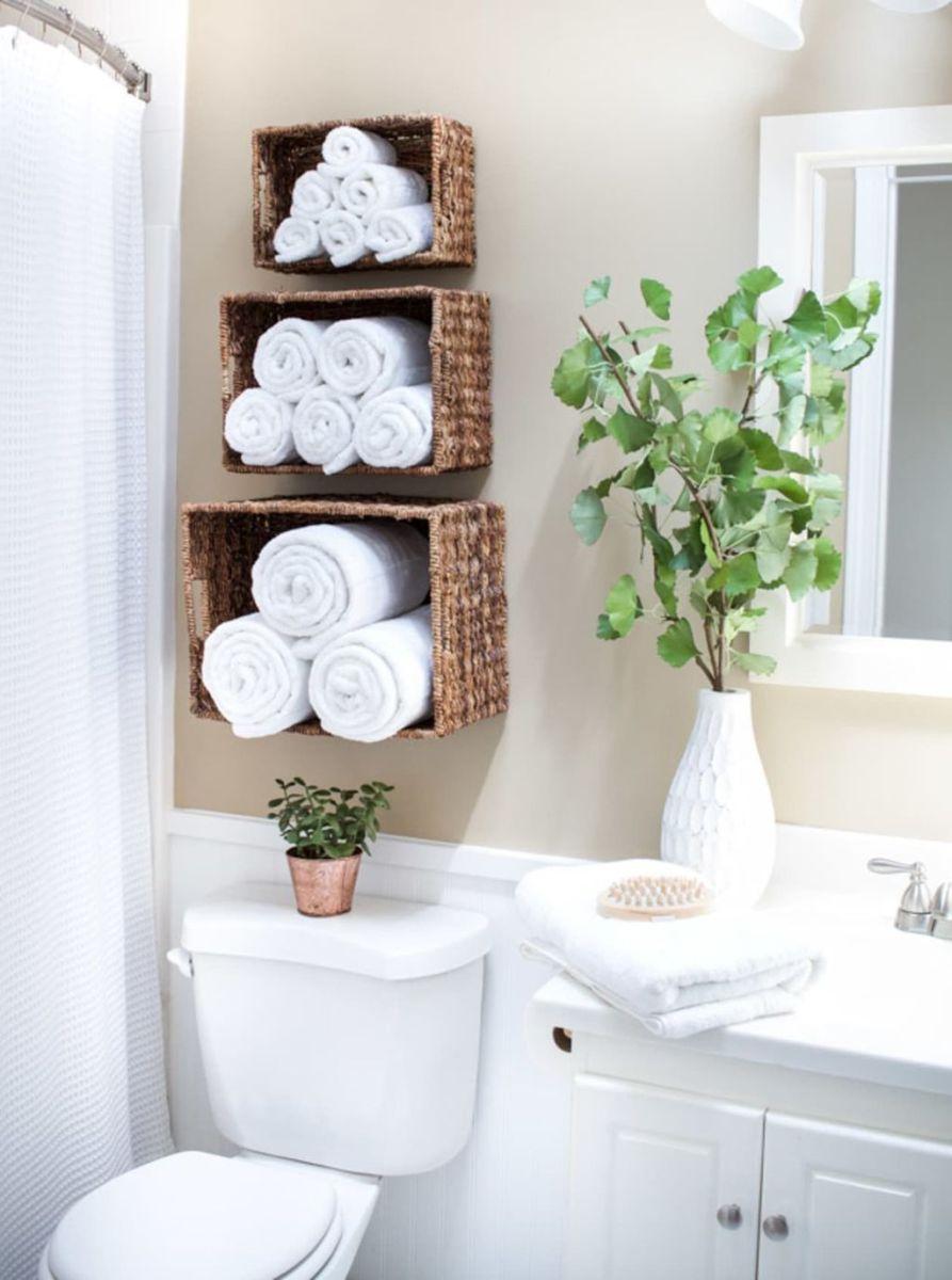 Stunning Bathroom Storage Design Ideas 25