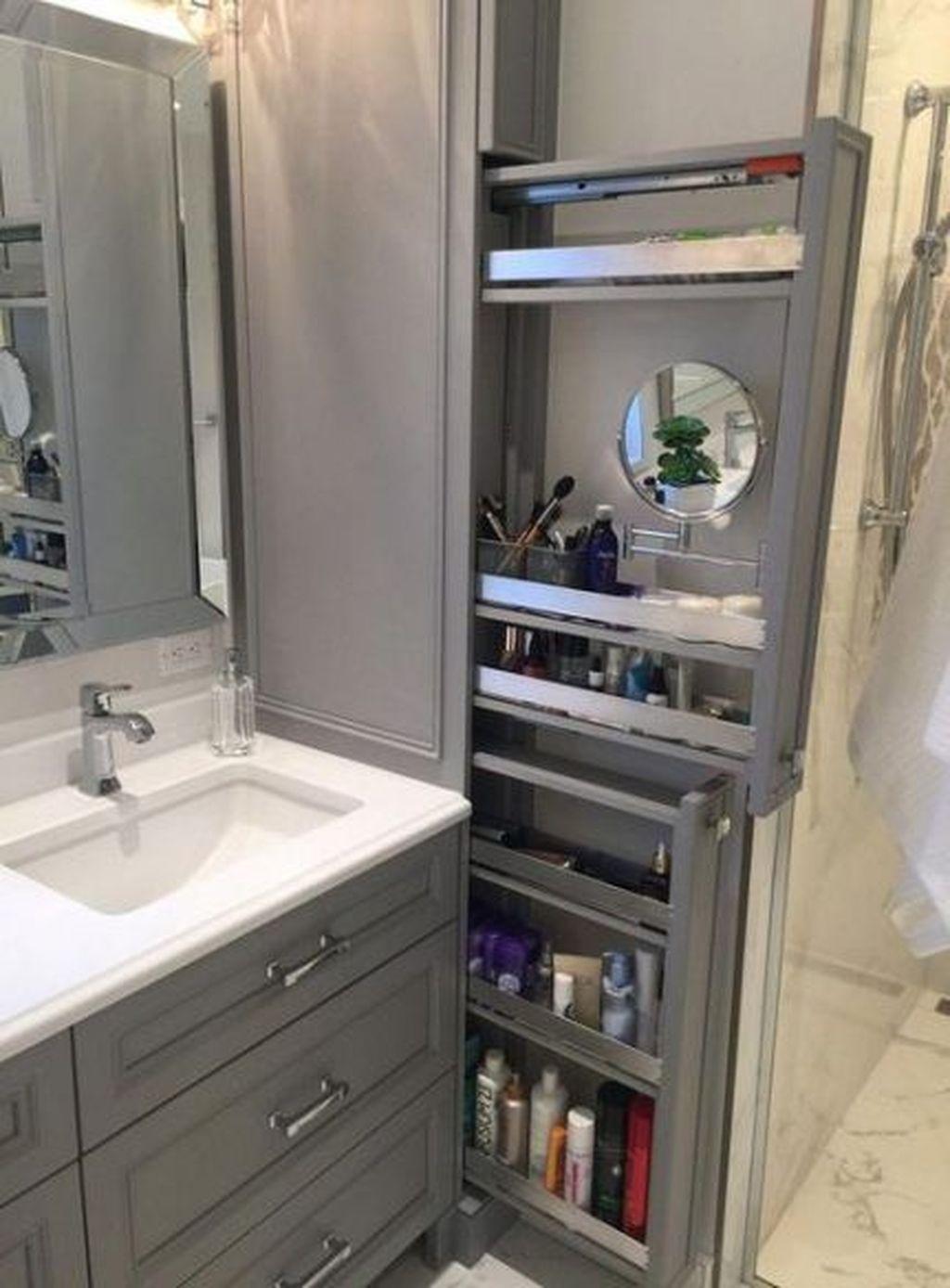 Stunning Bathroom Storage Design Ideas 28