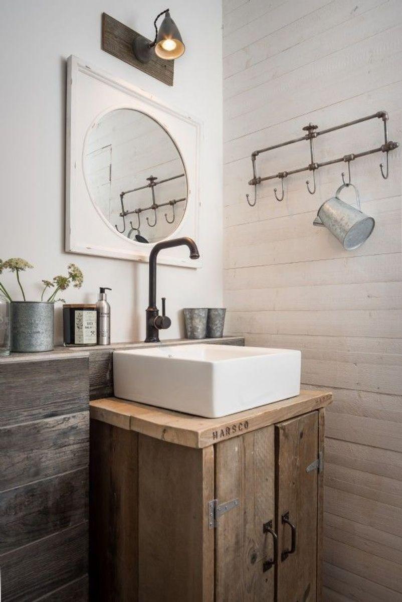Admirable Rustic Modern Bathroom Design And Decor Ideas 16