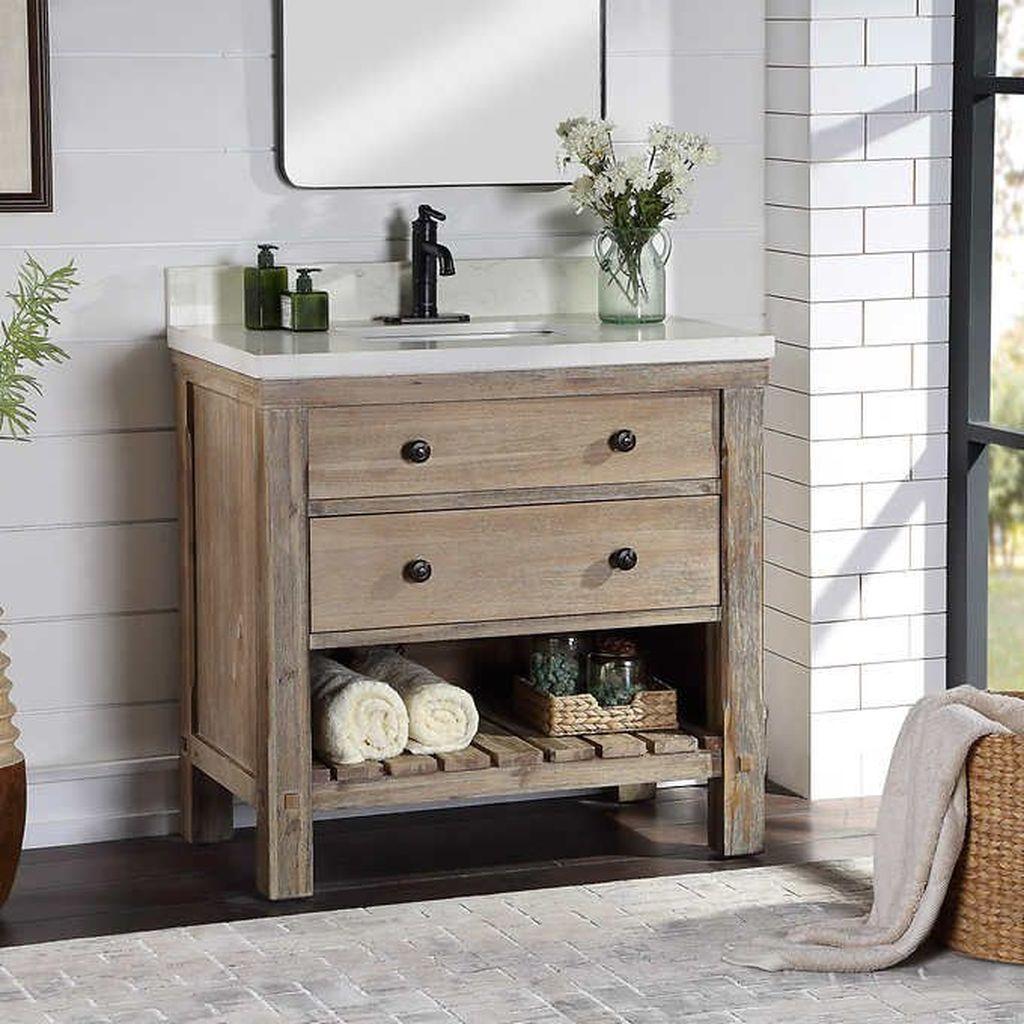 Admirable Rustic Modern Bathroom Design And Decor Ideas 19