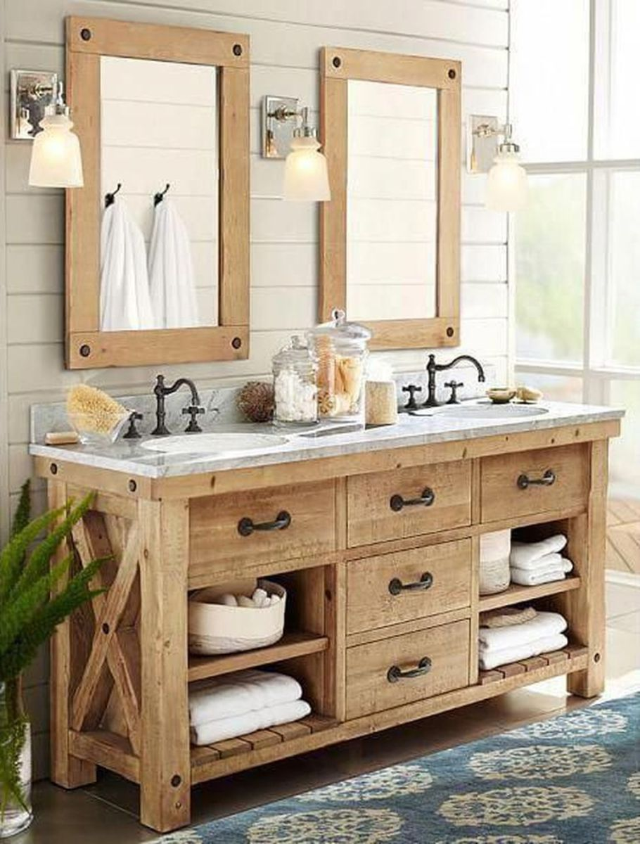 Admirable Rustic Modern Bathroom Design And Decor Ideas 24