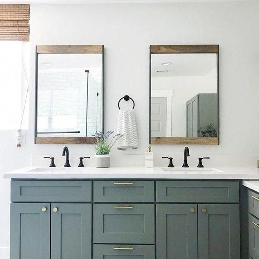 Admirable Rustic Modern Bathroom Design And Decor Ideas 26