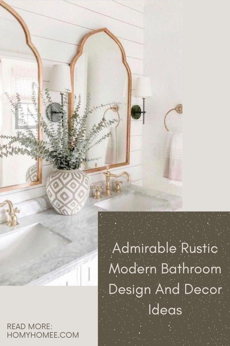 Admirable Rustic Modern Bathroom Design And Decor Ideas