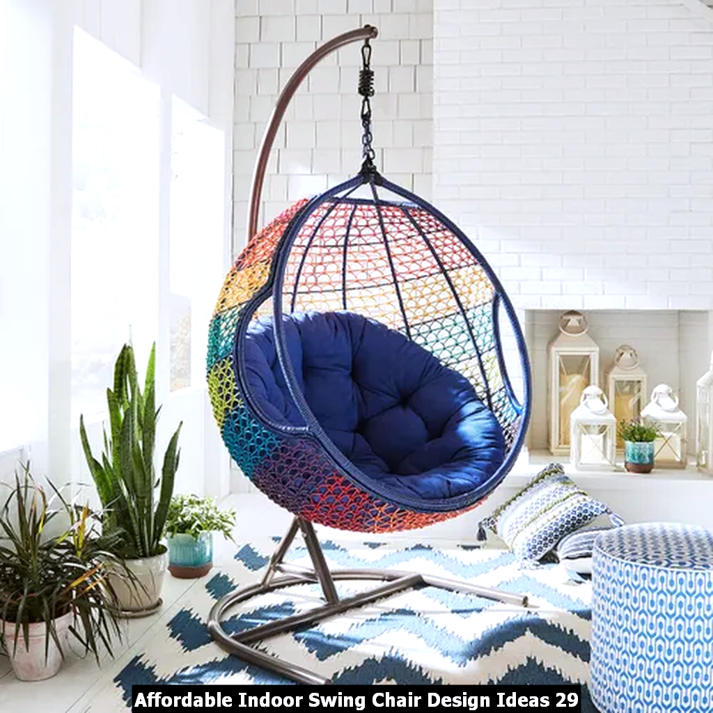 Affordable Indoor Swing Chair Design Ideas 29