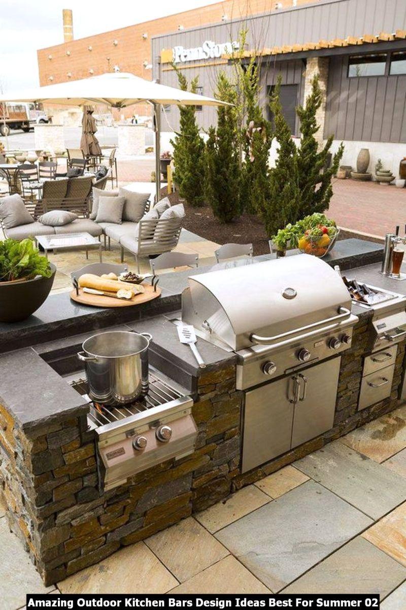 Amazing Outdoor Kitchen Bars Design Ideas Best For Summer 02