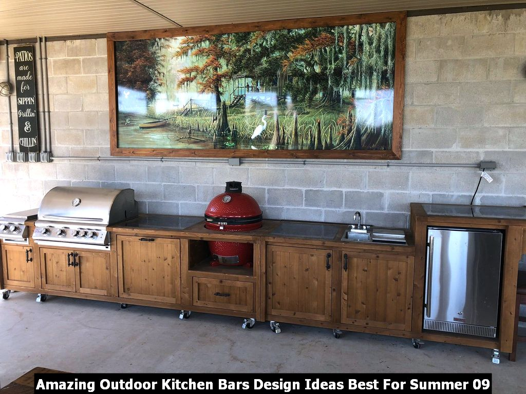 Amazing Outdoor Kitchen Bars Design Ideas Best For Summer 09