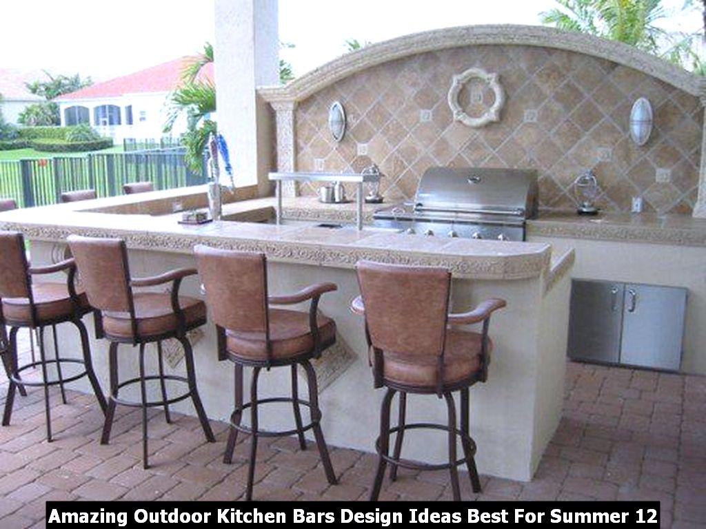Amazing Outdoor Kitchen Bars Design Ideas Best For Summer 12