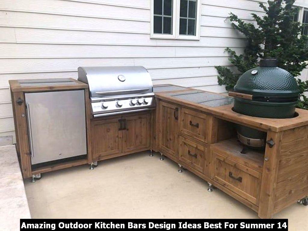 Amazing Outdoor Kitchen Bars Design Ideas Best For Summer 14