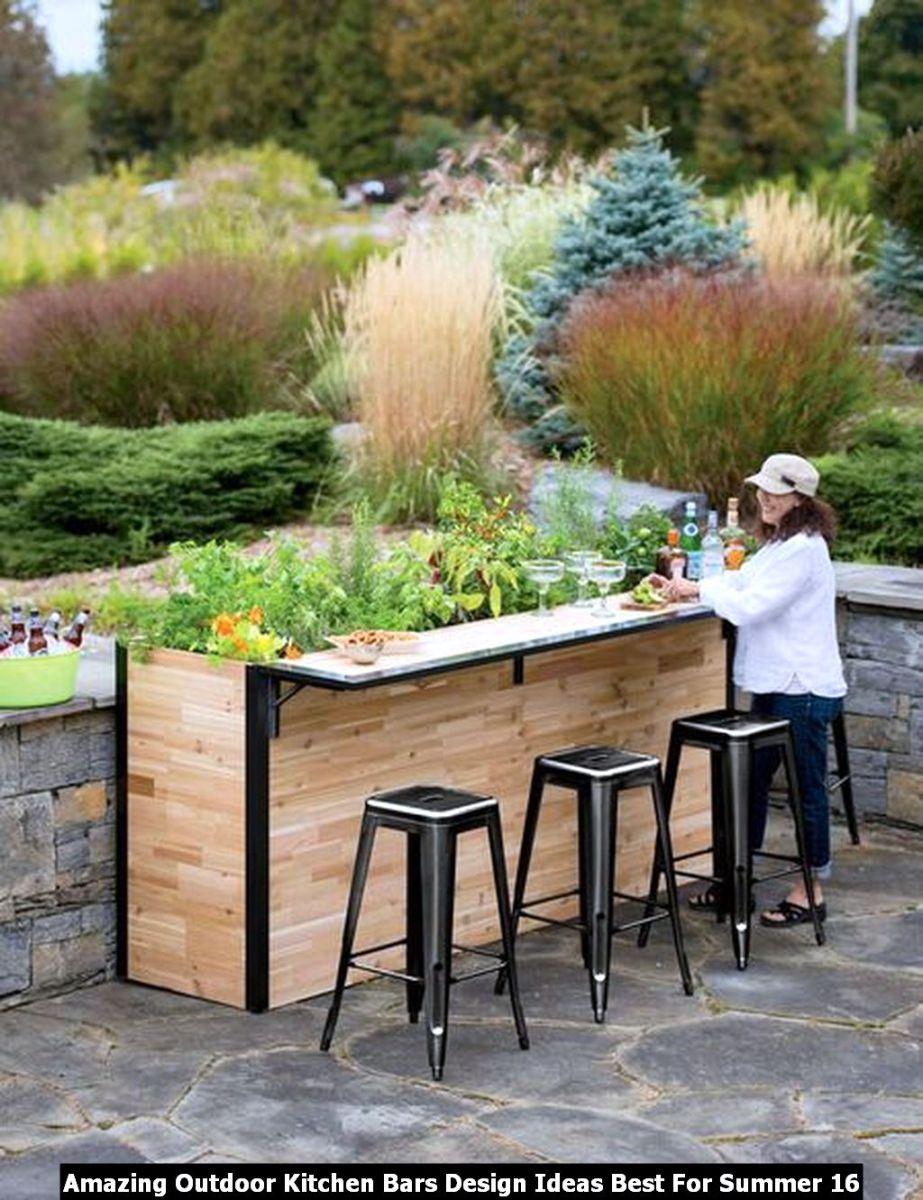 Amazing Outdoor Kitchen Bars Design Ideas Best For Summer 16