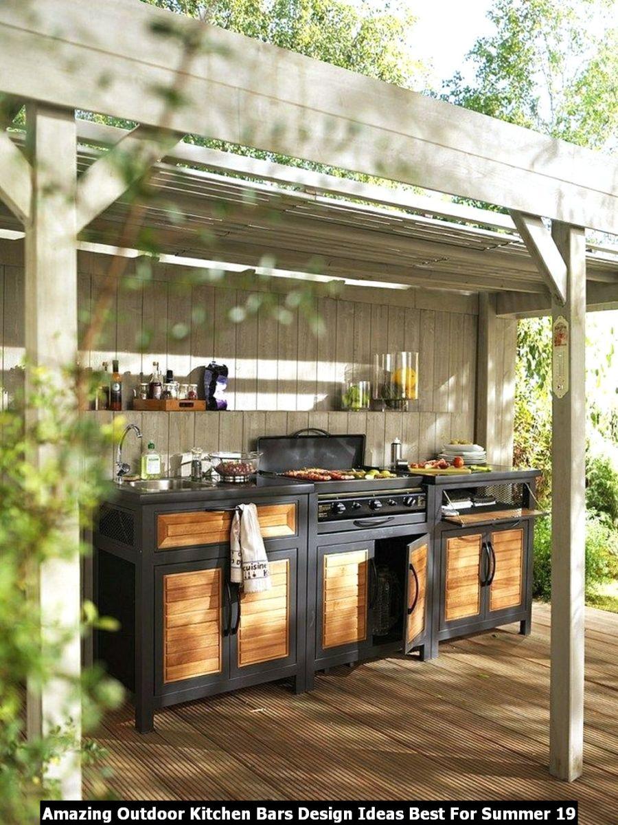 Amazing Outdoor Kitchen Bars Design Ideas Best For Summer 19