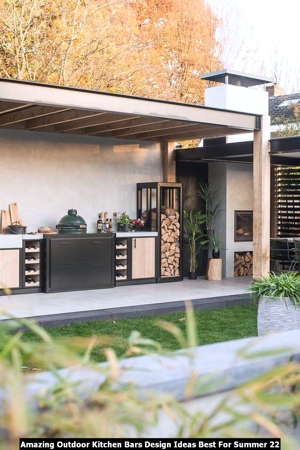 Amazing Outdoor Kitchen Bars Design Ideas Best For Summer 22