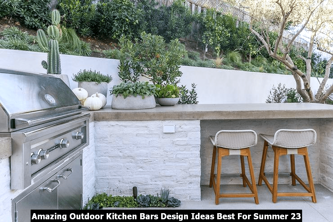 Amazing Outdoor Kitchen Bars Design Ideas Best For Summer 23