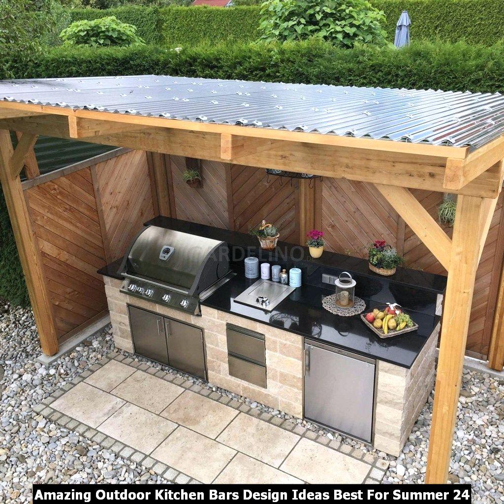 Amazing Outdoor Kitchen Bars Design Ideas Best For Summer 24