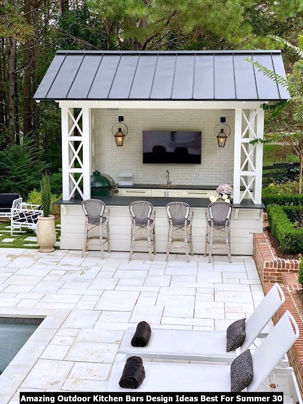 Amazing Outdoor Kitchen Bars Design Ideas Best For Summer 30