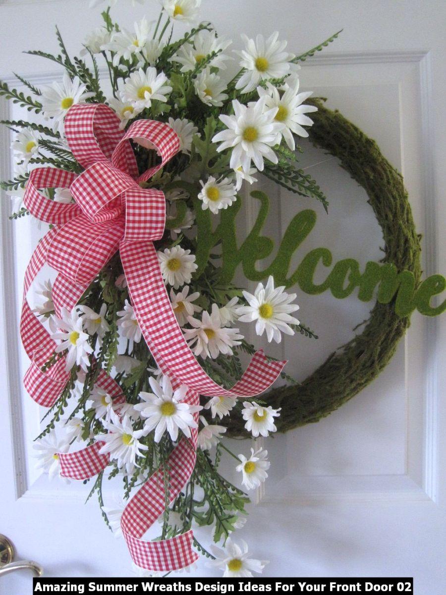 Amazing Summer Wreaths Design Ideas For Your Front Door 02