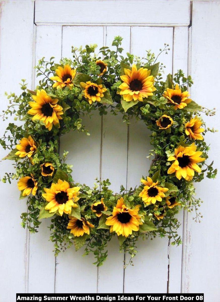 Amazing Summer Wreaths Design Ideas For Your Front Door 08