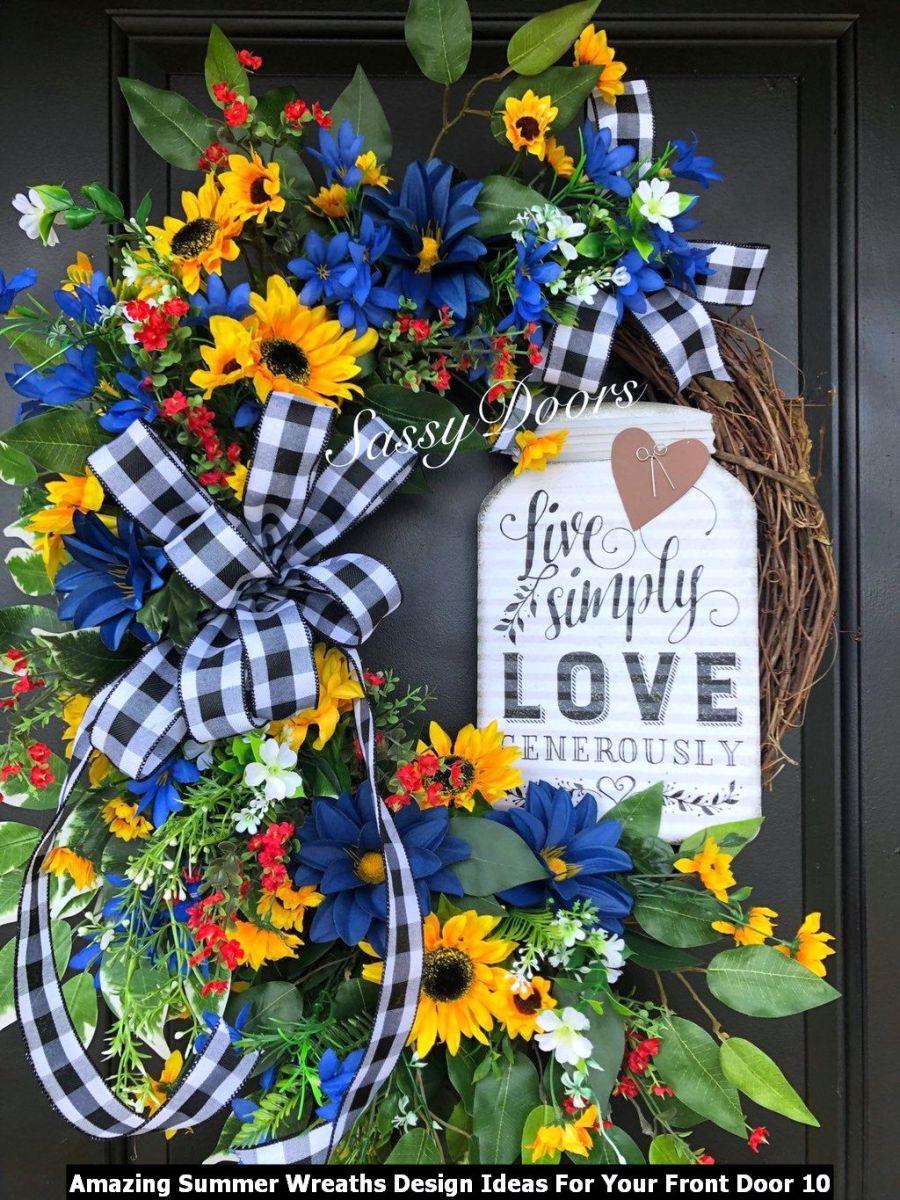 Amazing Summer Wreaths Design Ideas For Your Front Door 10