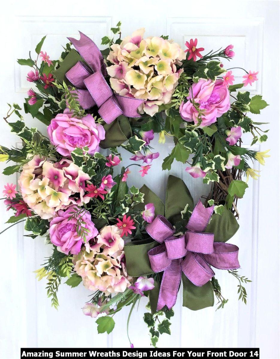Amazing Summer Wreaths Design Ideas For Your Front Door 14