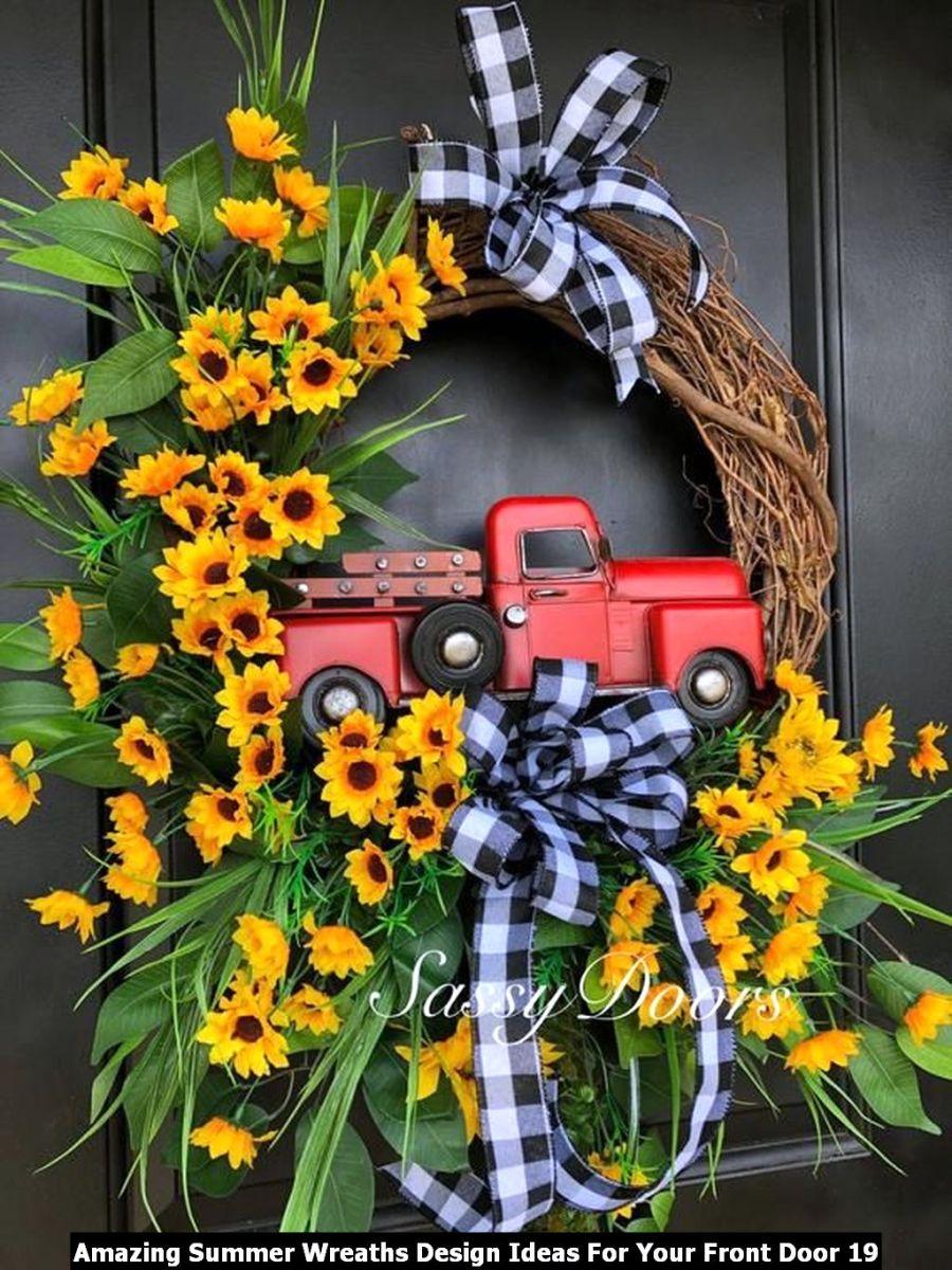 Amazing Summer Wreaths Design Ideas For Your Front Door 19