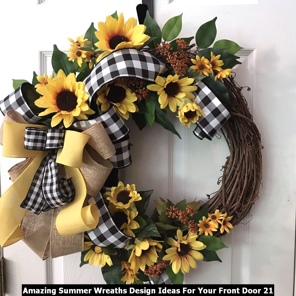 Amazing Summer Wreaths Design Ideas For Your Front Door 21