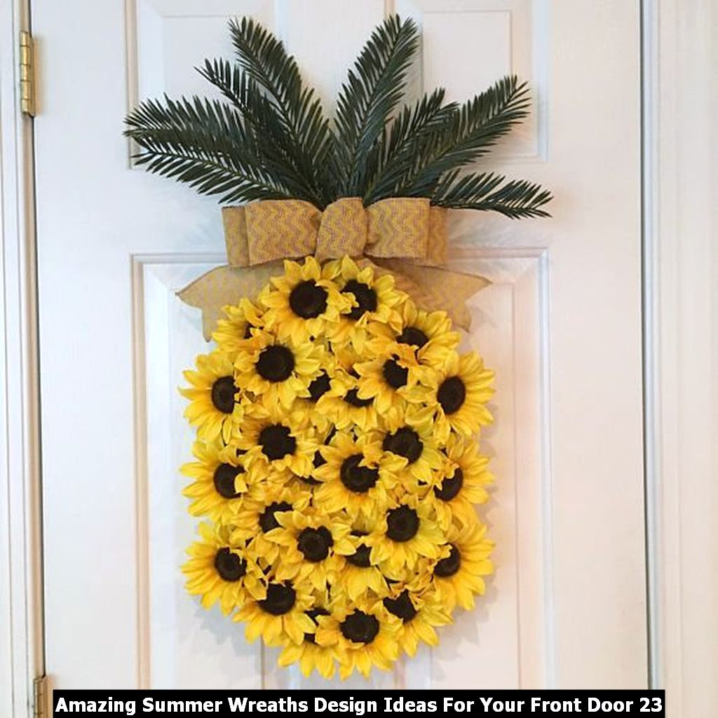 Amazing Summer Wreaths Design Ideas For Your Front Door 23