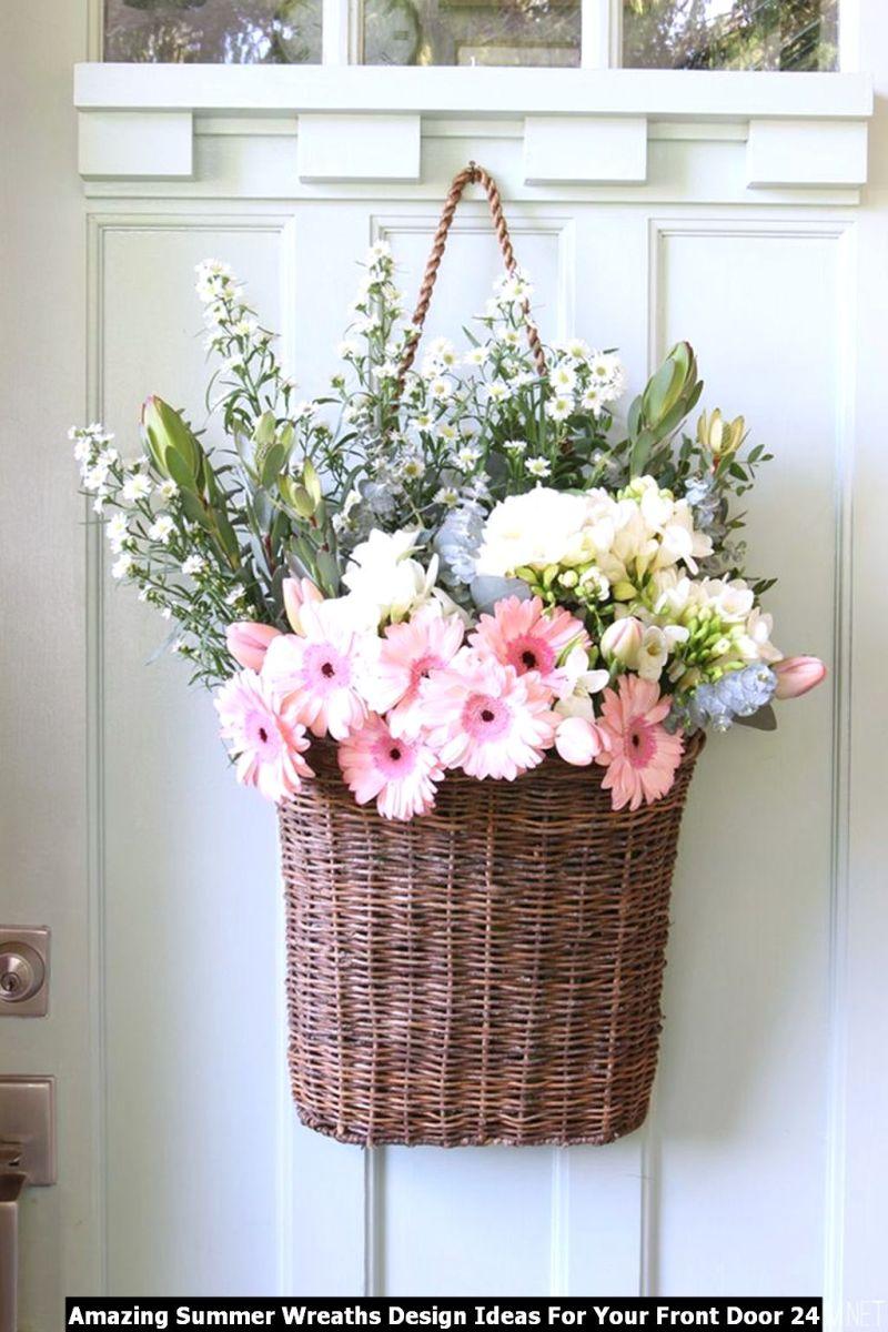 Amazing Summer Wreaths Design Ideas For Your Front Door 24