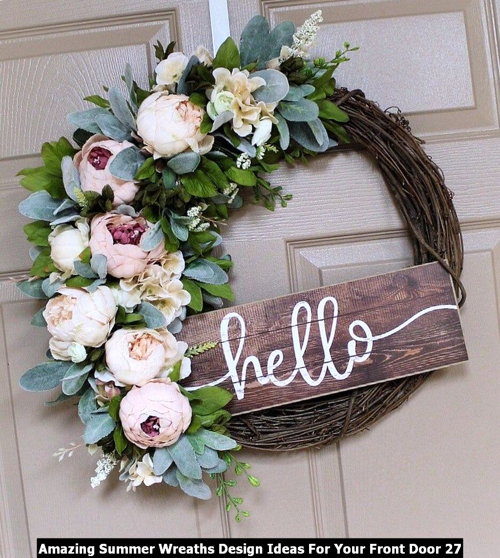 Amazing Summer Wreaths Design Ideas For Your Front Door 27