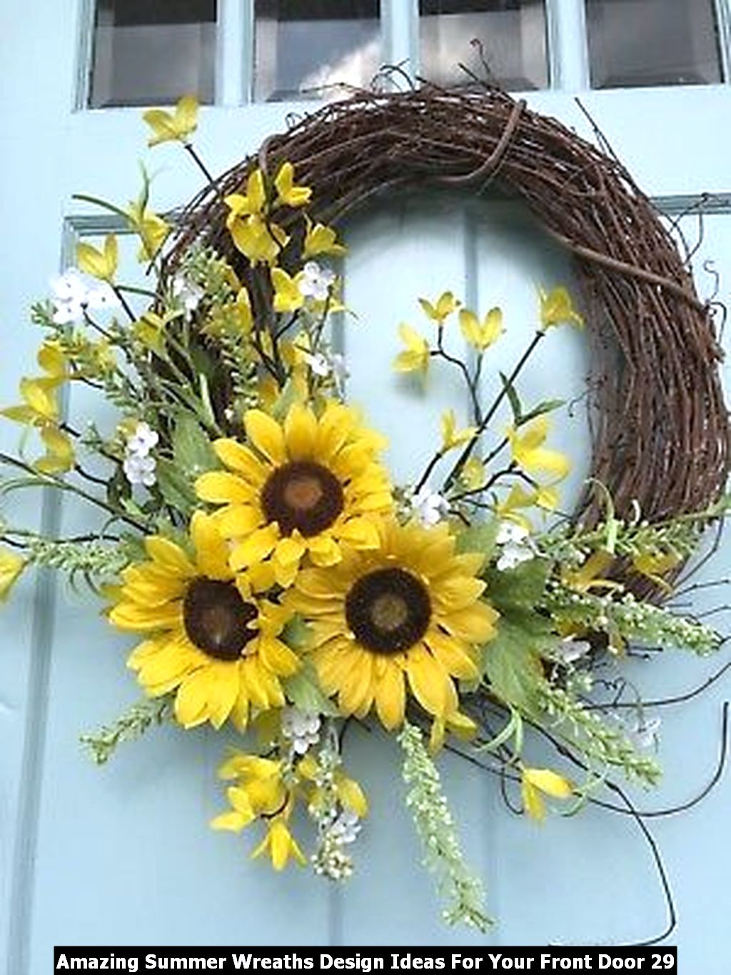 Amazing Summer Wreaths Design Ideas For Your Front Door 29