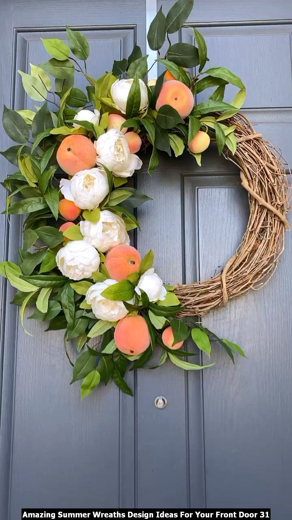 Amazing Summer Wreaths Design Ideas For Your Front Door 31