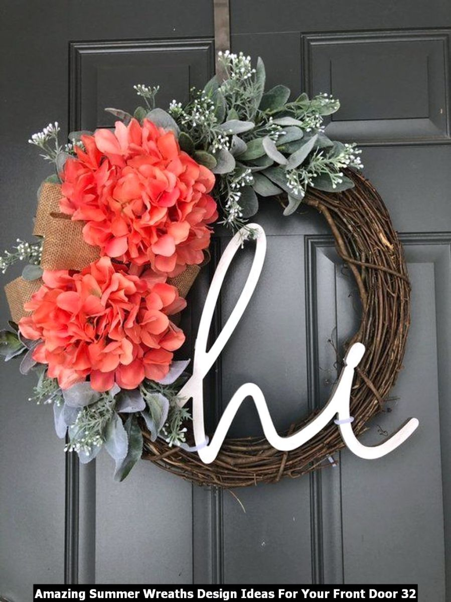 Amazing Summer Wreaths Design Ideas For Your Front Door 32
