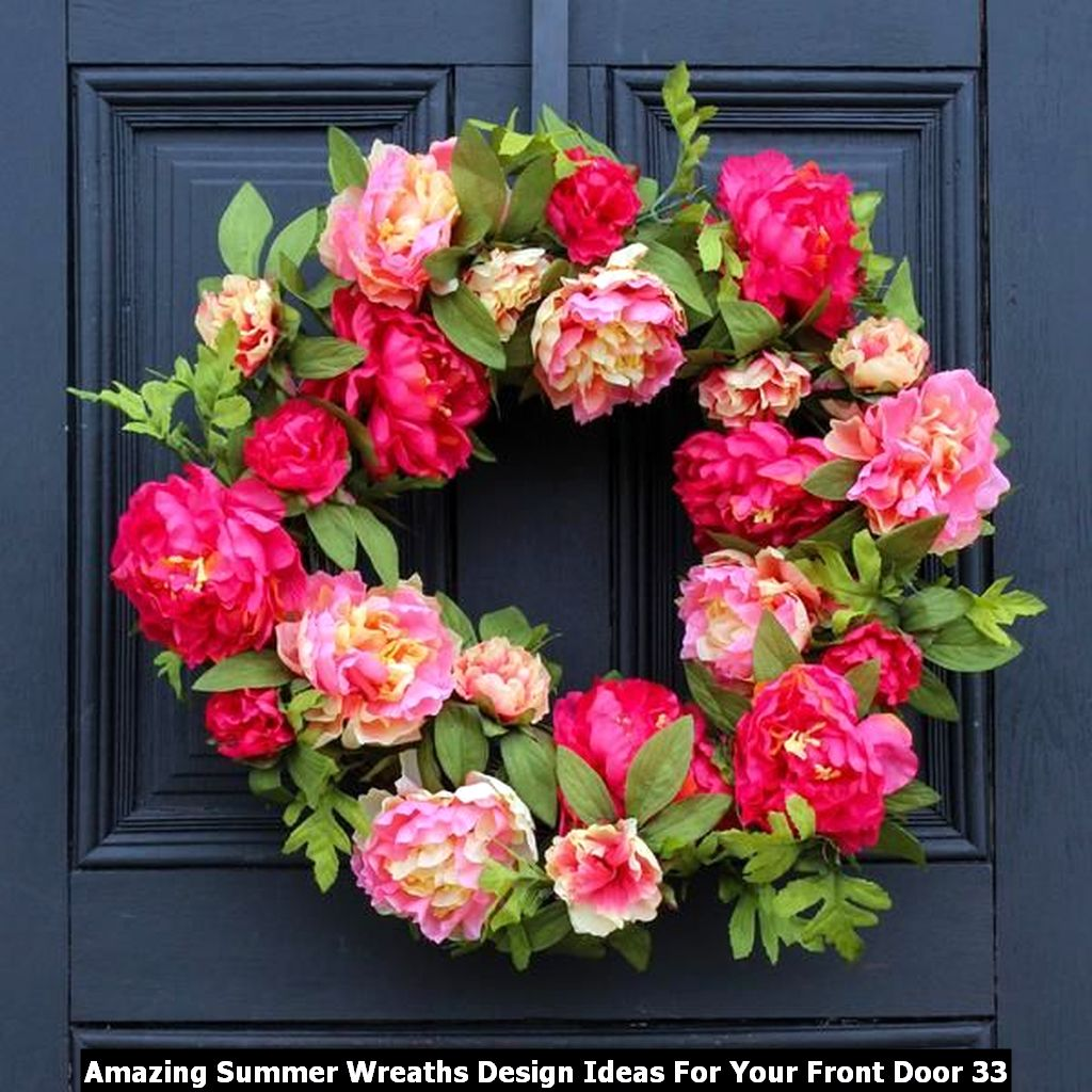 Amazing Summer Wreaths Design Ideas For Your Front Door 33